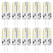 10 X HRSOD High Brightness G4 2.5 W 24 SMD 2835 260 LM Warm White / Cool White T Decorative Corn Bulbs DC 12 V цена