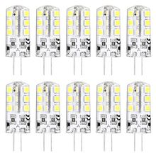 10 x hrsod alto brilho g4 2.5 w 24 smd 2835 260 lm, branco quente/frio t decorativo lâmpadas de milho dc 12 v