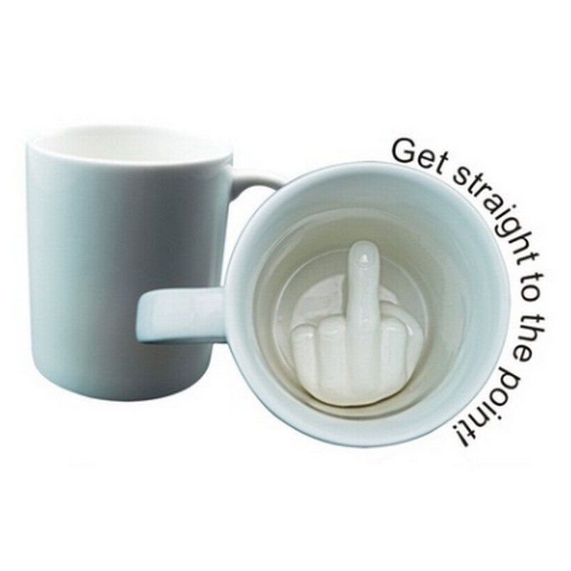 Creative Middle Finger Cup 3D Milk Coffee Ceramic Cup Fack Strange New Funny Mug Cool Unique