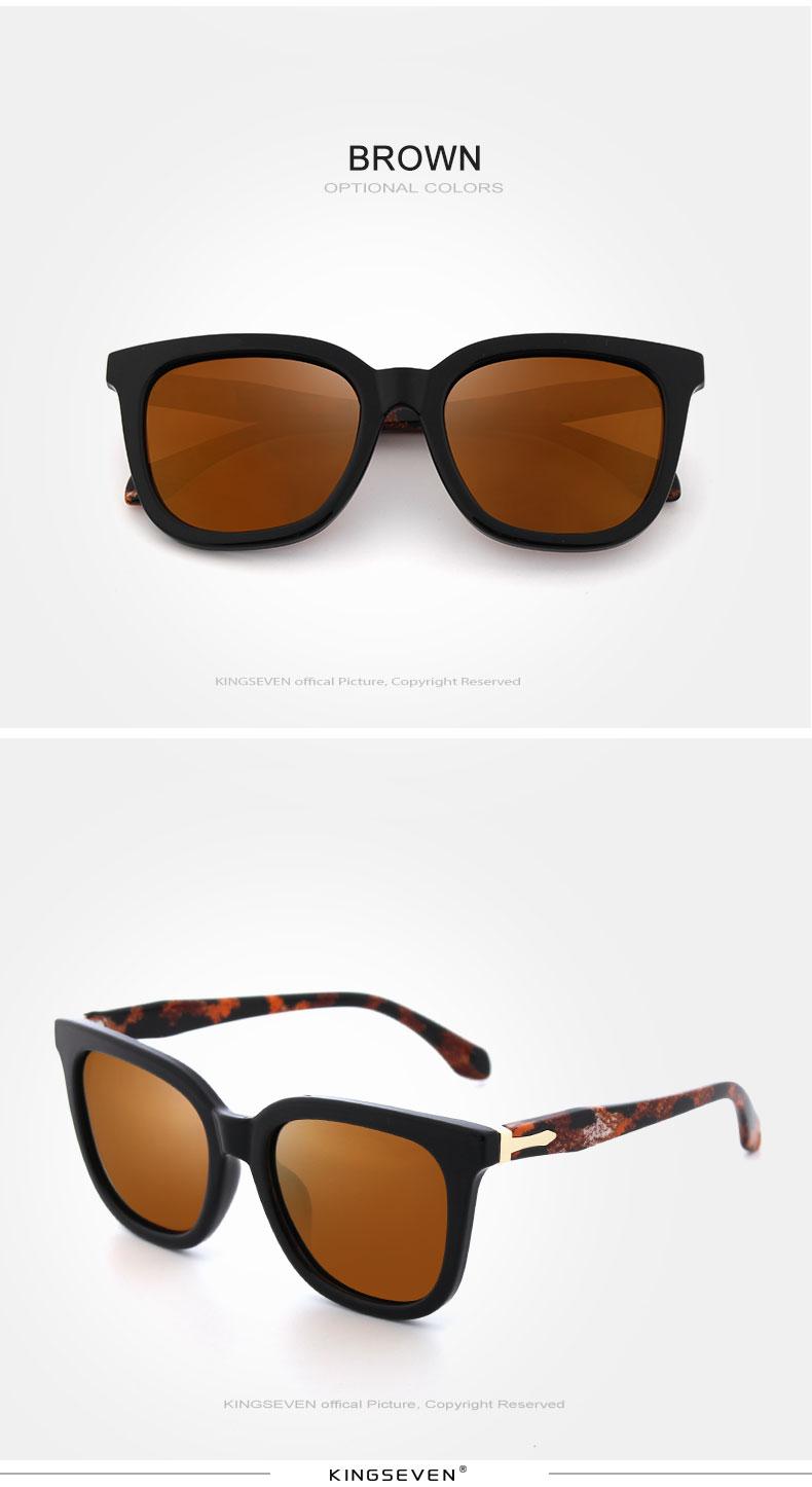 KINGSEVEN Vintage Style Sunglasses Women Brand Designer Shades Polarized Lens Sun Glasses Fashion Sunglasses Oculos De N7810 6