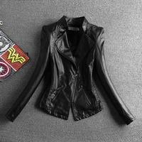Jaqueta Couro 2018 Gerçek Deri Ceket Chaquetas De Cuero Mujer Bahar Yeni Kadın kadın Ince Lady Pu Küçük Kore motosiklet