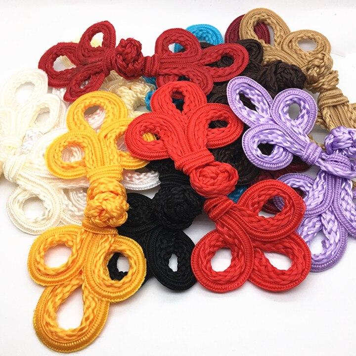 10 pares grande tradicional artesanato decoração botões clássico chinês sapo fechamento botões nó prendedor para cheongsam tang ternos