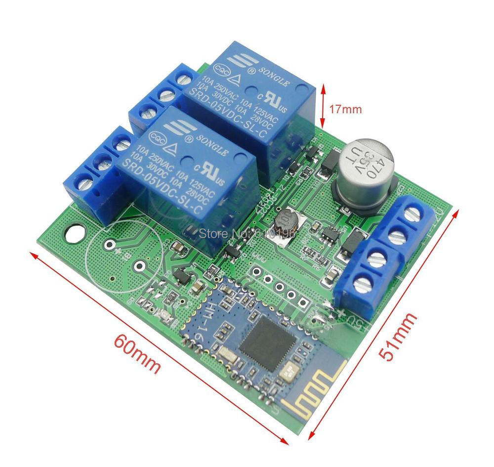 2 Channel Relay Module Bluetooth 40 Ble Switch For Apple Android Phone Iot With Box