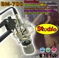 Профессиональная Студия Звукозаписи Конденсаторный Микрофон BM700 Комплект Микрофон Микрофон Караоке Microfono ПК С Подвесом Микрофонная Стойка
