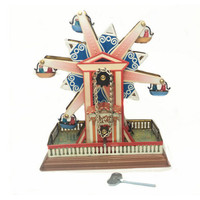 BEIOUFENG Retro Ferris Wheel Clockwork Toys for Adults Collection Juguete Vintage Wind Up Tin Toys with Clockwork Classic Toy