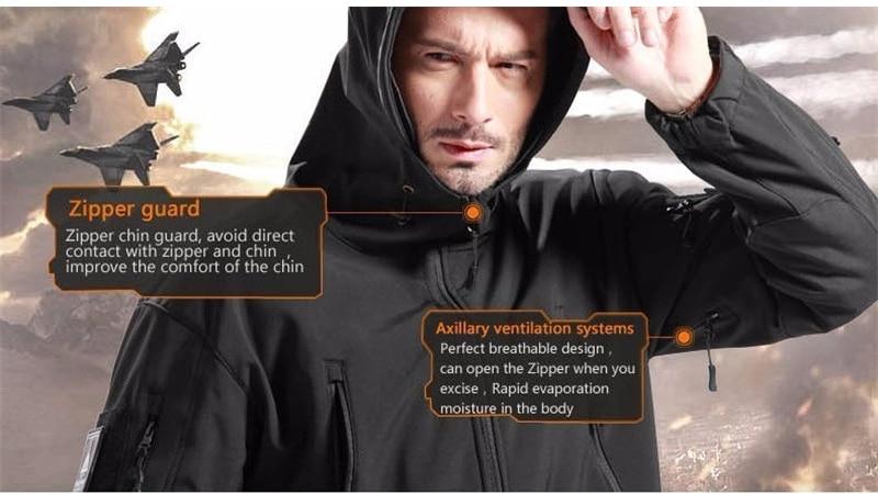 pele militar à prova dwaterproof água jaqueta com capuz + calças