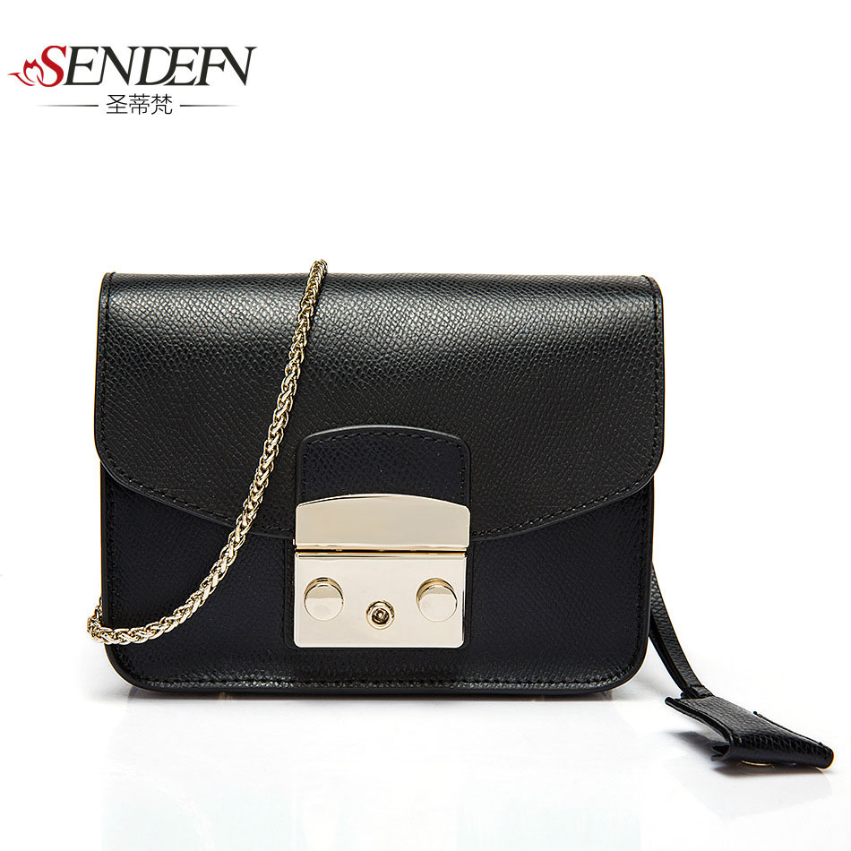 Fashion Women genuine Leather Messenger Bag Handbag Ladies Small Crossbody Bags Famous Brands Designers Shoulder Bags Girls купить дешево онлайн
