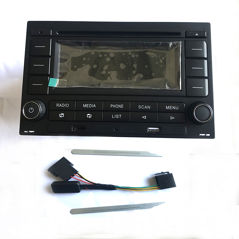 MP3 RCN210 CD Player USB AUX Rádio do carro Do Bluetooth Com cablagem Para Golf Passat MK4 B5 Apto Para Polo 9N