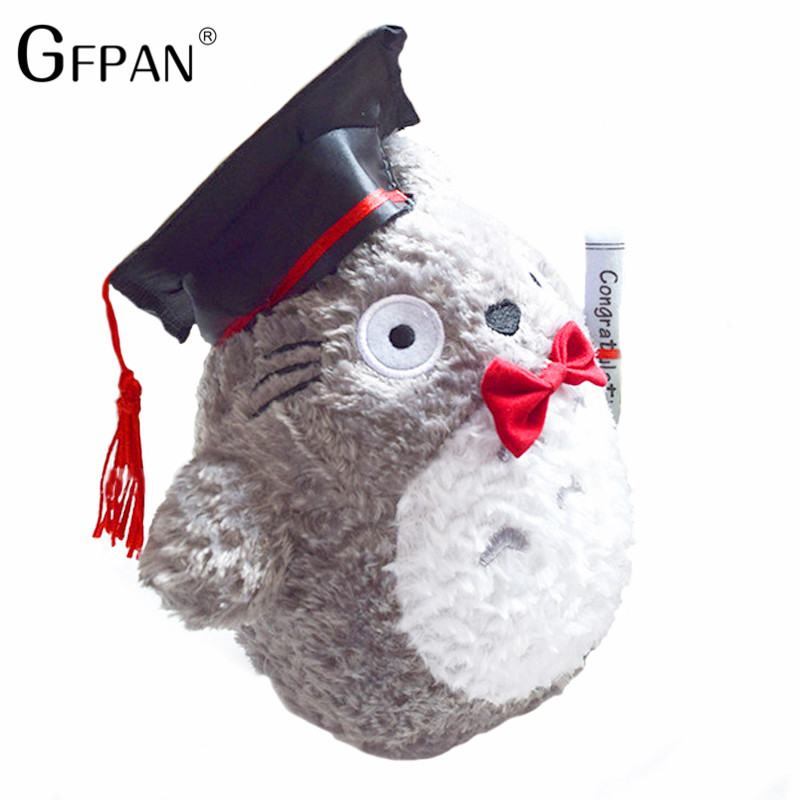 1pcs-20cm-plush-doctor-Dr-Totoro-learn-to-read-Totoro-Hat-plush-toy-doll-Graduation-Gift (1)