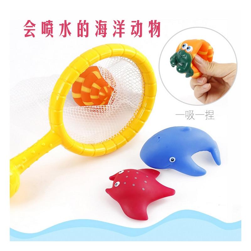 N190 Baby bathing suit water floating suit baby water spray marine animal fishing water toys