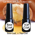 1 lot =1 base coat + 1 top coat for Nail Gel polish UV or LED  Gel Polish nail shop or DIY good quality good price top  basecoat