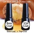 1 lote = 1 capa de base 1 capa superior de esmalte de Uñas de Gel UV o LED Gel Esmalte de uñas tienda o DIY buena calidad buen precio superior capa de base