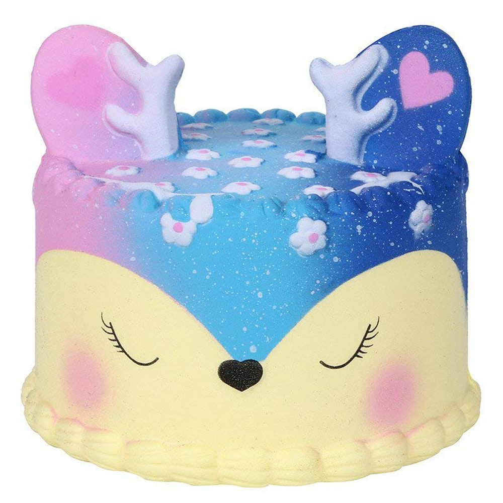 New Jumbo Kawaii Colorful Deer Cake Squishy Simulation Slow Rising Sweet Scented Soft Squeeze Toy Stress Relief Fun For Kid Gift
