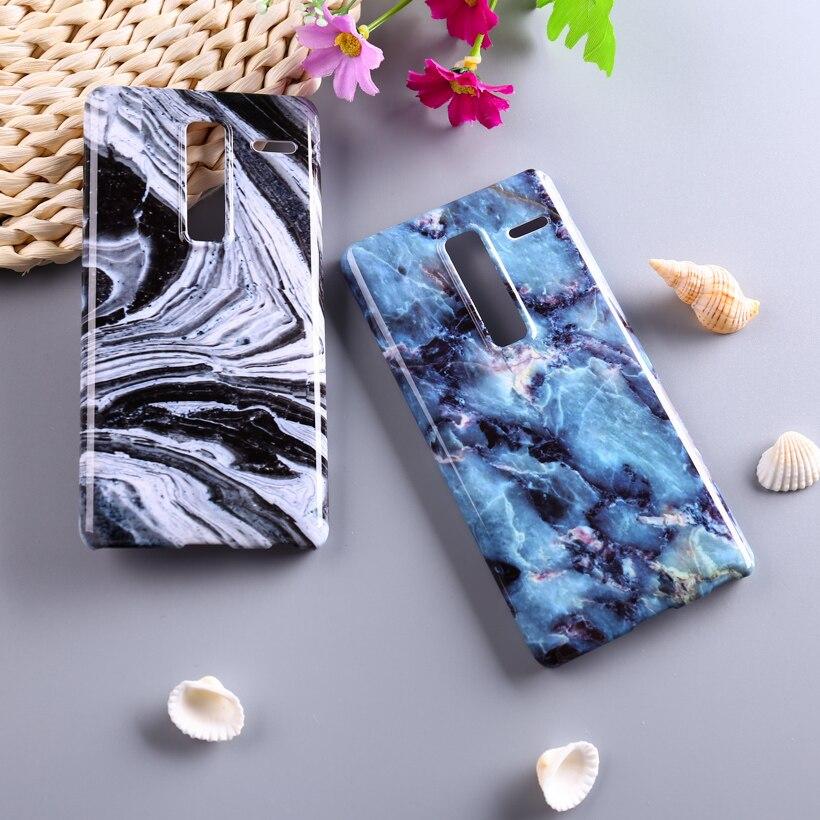 Piedra de mármol de plástico cajas del teléfono para lg class h740 f620 H650 5 '