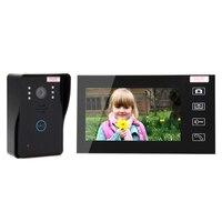 Новый 7 ЖК дисплей 2,4 г Цвет Экран электронный дверной звонок Viewer ИК ночного дверной глазок Камера фото/видео запись цифровой двери Камера