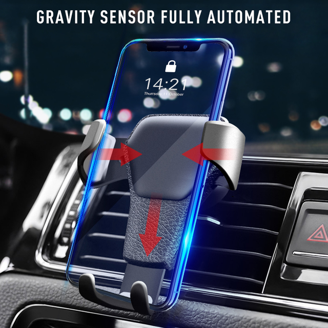 Universal Car Phone Holder Gravity Car Air Vent Mount In Car For Iphone X 8 Samsung Xiaomi One hand Operate Phone Stand Bracket 3