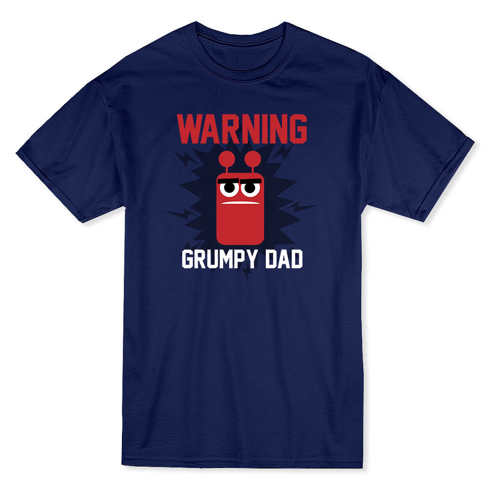 Warning Grumpy Dad Graphic Father Day Mens T-shirt 3D T Shirt Men Plus Size Cotton Tops Tee