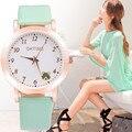 Oktime 2017 calidad estupenda de la mujer moda de cuarzo analógico reloj de pulsera de cuero de moda apariencia clásica regalos de empresa 0208