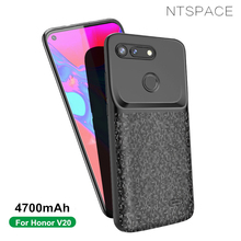 NTSPACE 4700mAh Battery Charger Cases For Huawei Honor V20 Extenal Backup Power Bank Pack Back Clip Charging Case Cover