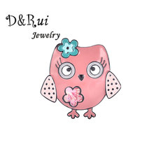 D&Rui Jewelry Pins And Brooches Enamel Bird Pin Badges Hat Backpack Accessories Gift For Women Girls Wholesale Pink Brooch 2019