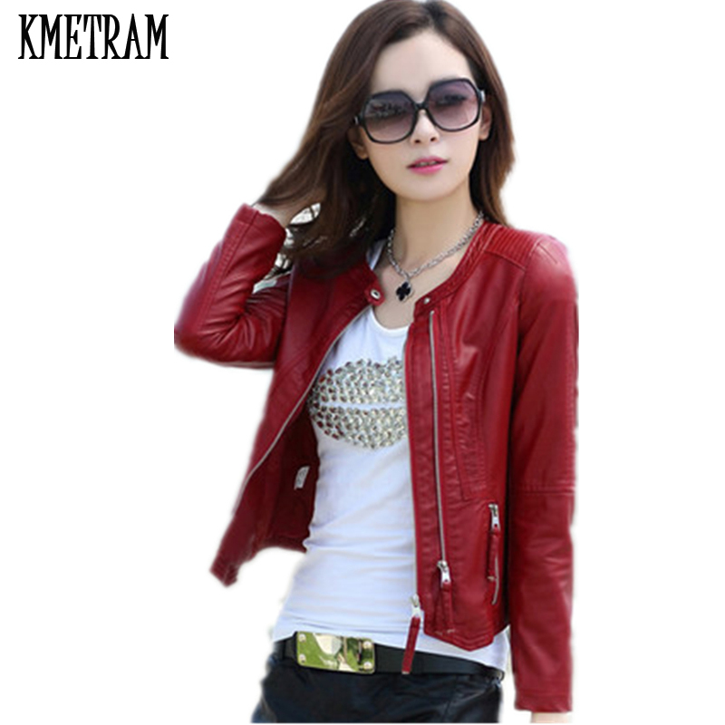 Leather Jacket Women Spring Autumn 2019 New Fashion Leather Coat Short Slim Motorcycle Leather Clothing Female