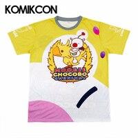 FF15 Moogle Chocobo T Shirt Final Fantasy XV Noctis Lucis Caelum Tshirt Costume Carnival Men Short