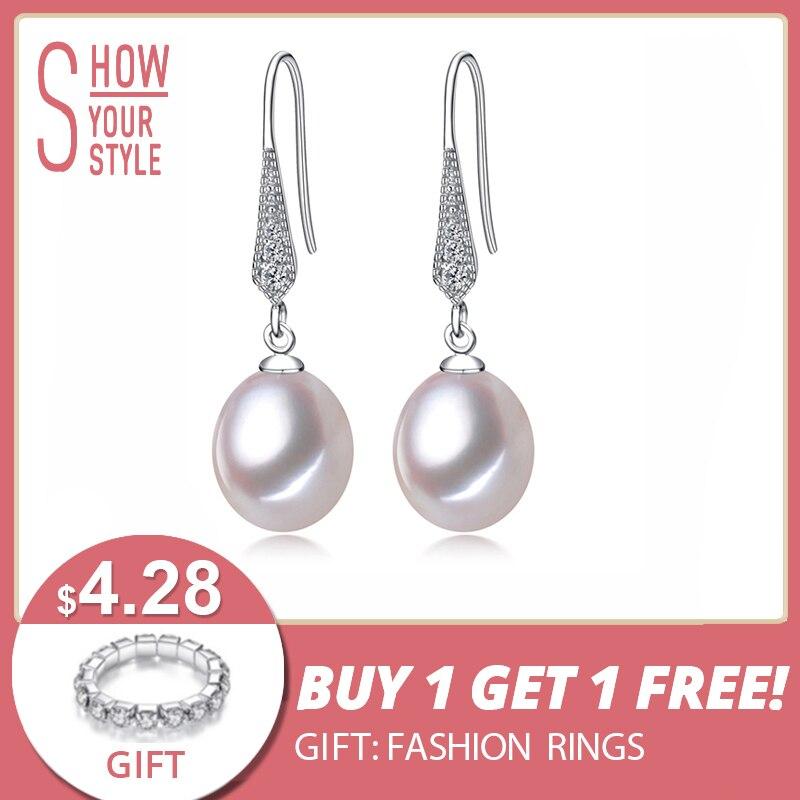 YIKALAISI 925 sterling silver Natural Freshwater Pearl Drop Earrings - Märkessmycken - Foto 1