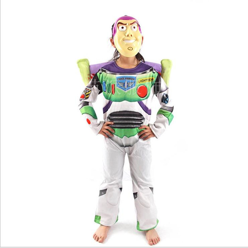 Toy Story buzz lightyear costume halloween costume for party cosplay costume carnival dress For Kids With Wing mask
