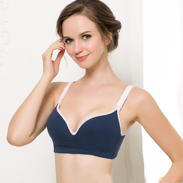Sexy Cotton Maternity Nursing Bra Push Up Breast Feeding Bra For Pregnant Women Pregnancy Intimate Lactation Lingerie Underwear