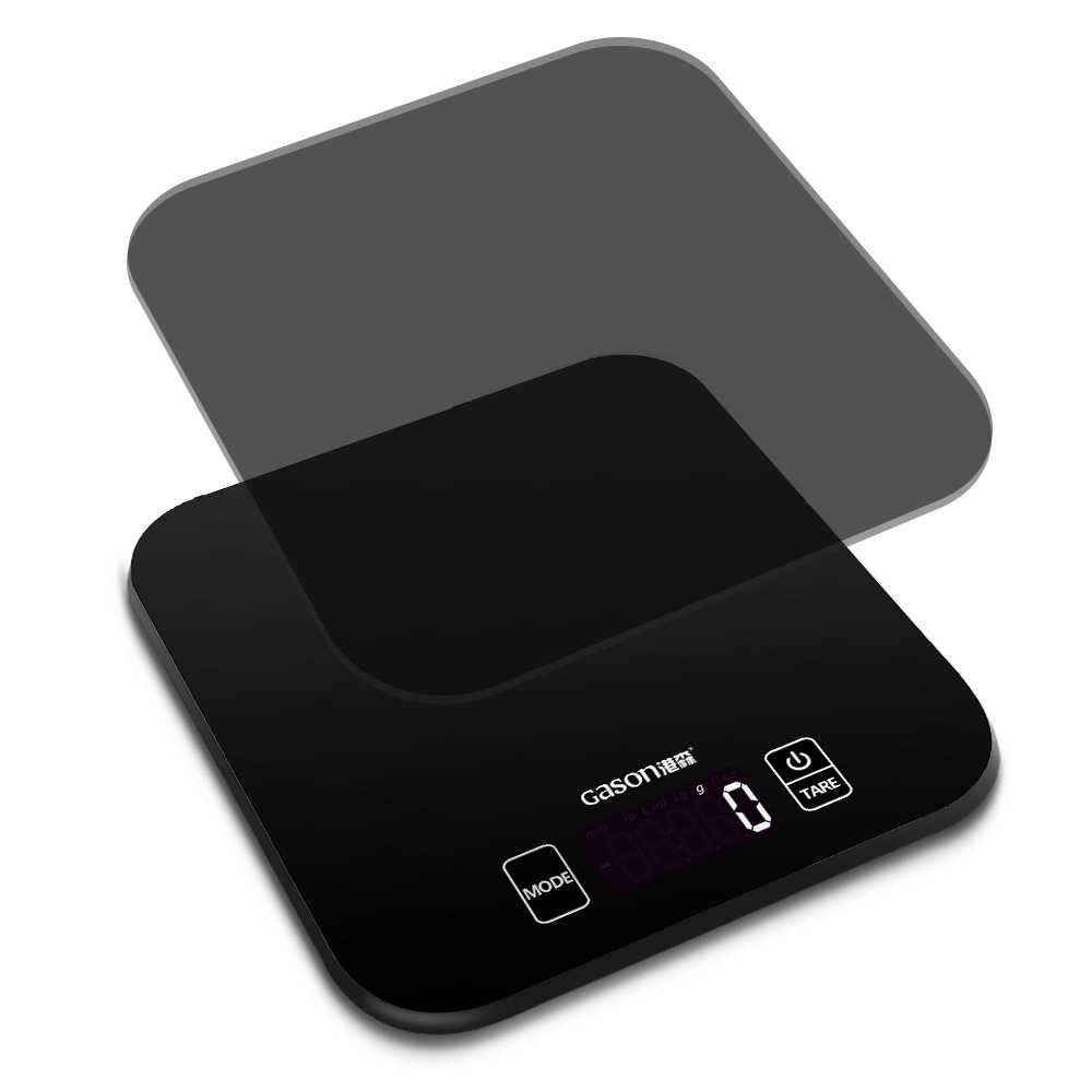 GASON C1 Mini Balance de cuisine électronique précision mesure outils Balance numérique gramme cuisson alimentaire verre LCD affichage 15 kg/1g