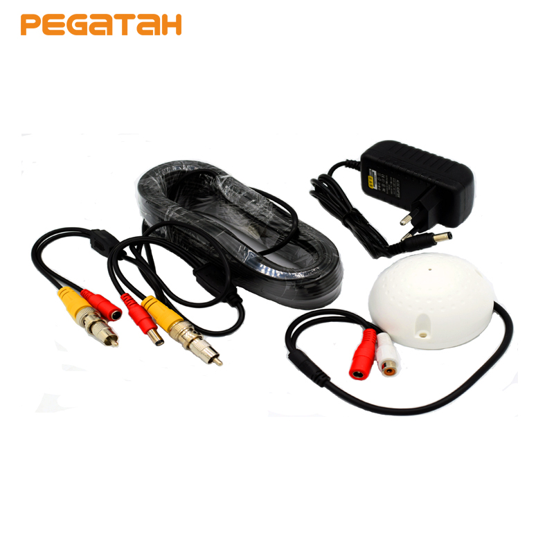 CCTV High Sensitive Microphone Security Camera RCA Audio Mic DC Power Cable for Home Security System redeagle audio monitor cctv mic microphone rca output for home security camera dvr system