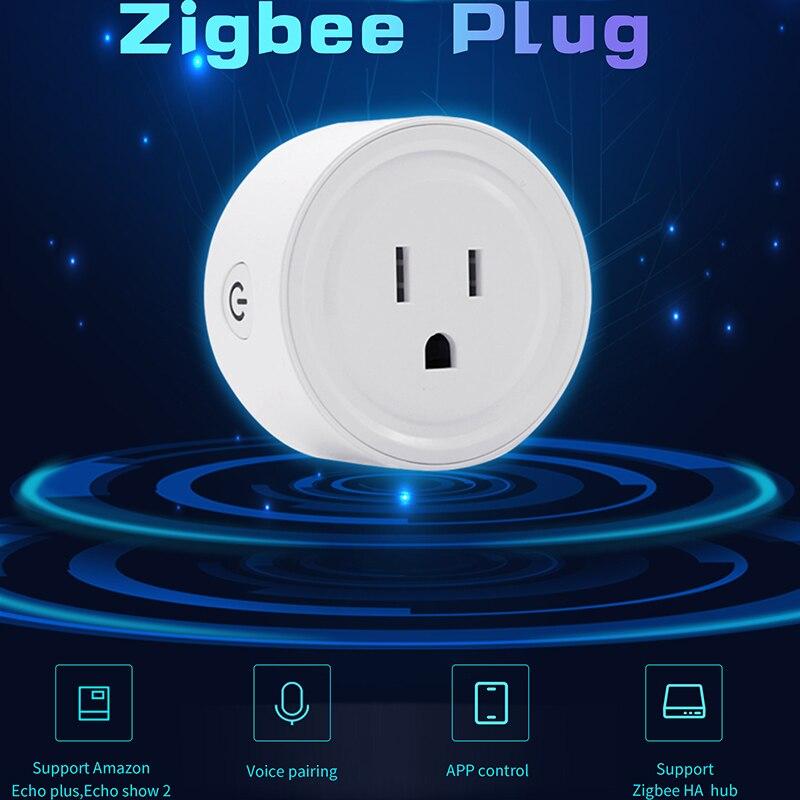 Image 4 - Lonsonho Zigbee Smart Plug US Smart Socket Outlet Works With Echo Alexa Smartthings Wink Hub Smart Home Automation-in Smart Power Socket Plug from Consumer Electronics