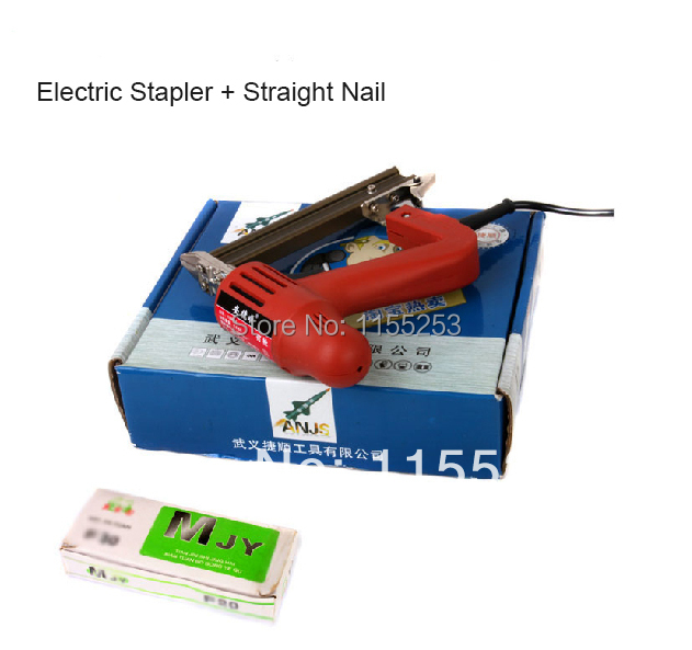 Woodworking Tools Electric Stapler Nail Gun with Straight Nail with Free Shipping free shipping air nailer gun nail gun pneumatic tools air tools 1022j code nail gun