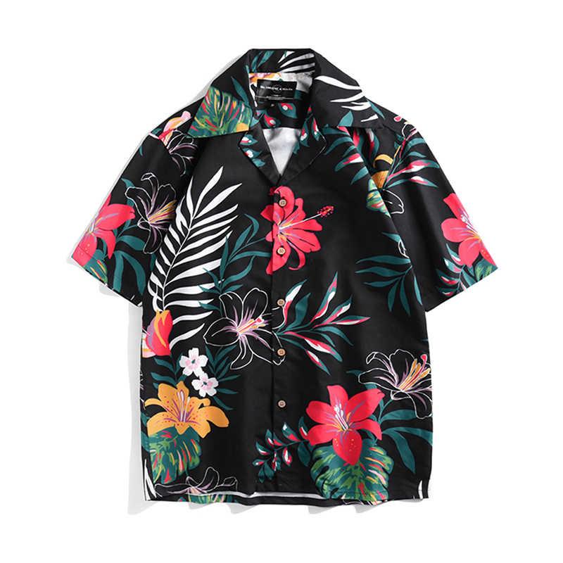 2019 новые высококачественные пляжные рубашки с принтом Мужские повседневные Летние Гавайские Алоха модные вечерние праздничные рубашки хип хоп рубашка уличная