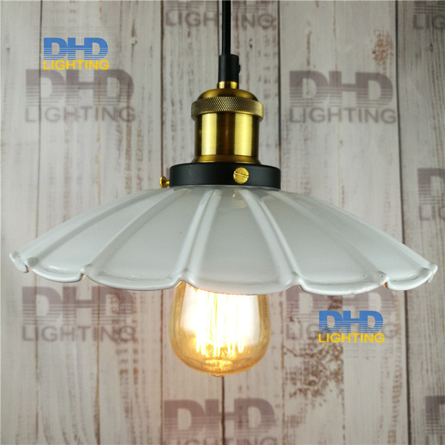 White Shade Edison Vintage Filament Pendant Small Light Restaurant Lamp Bar