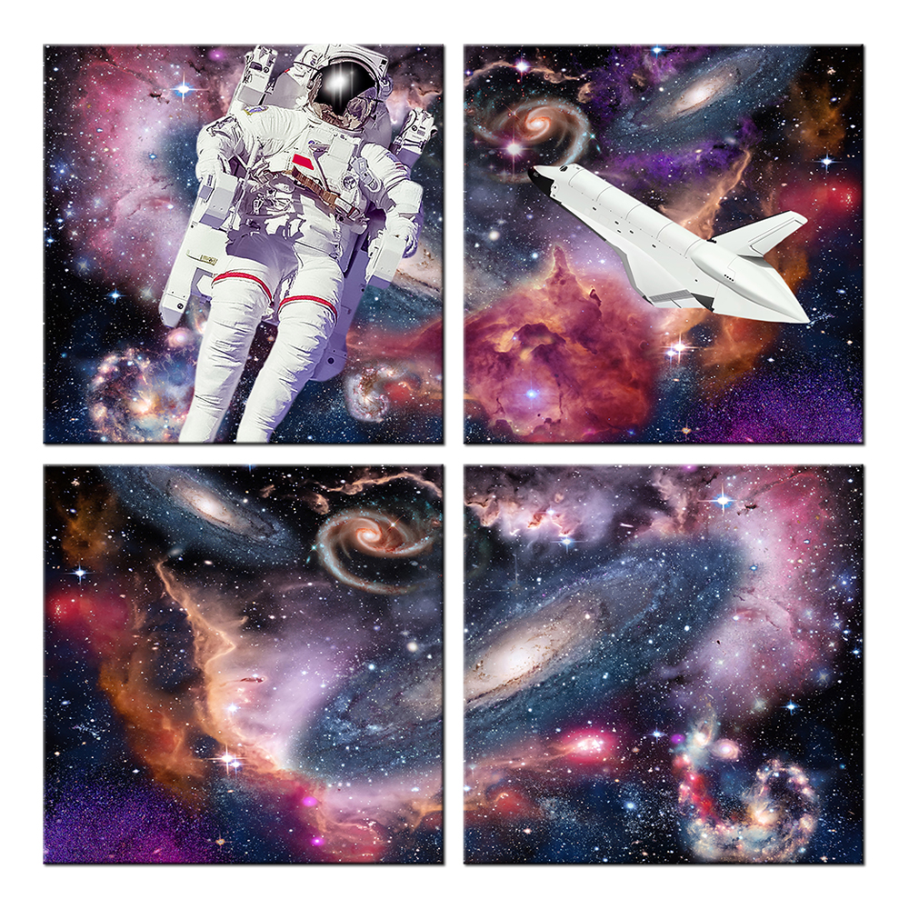 online get cheap wall mural starry night aliexpress com alibaba wall mural home decor painting starry night sky canvas wall art milky way with astronauts travel space picture poster artwork
