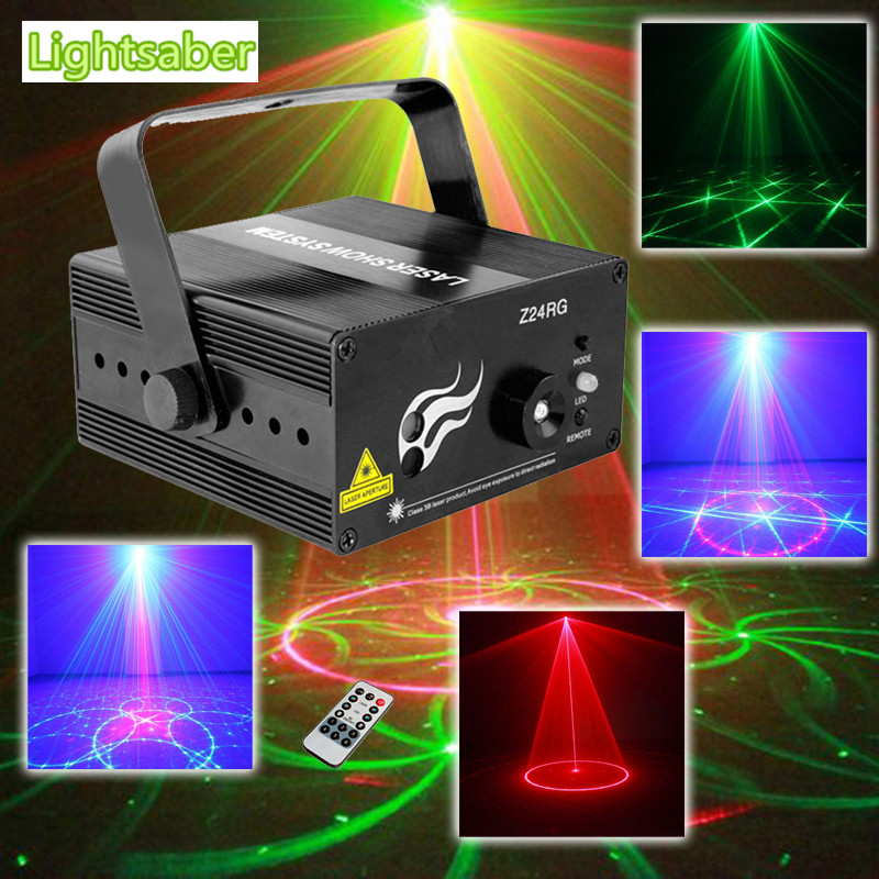 RG Mini 3 Lens 24 Patterns LED Laser Projector Stage Lighting Effect Remote 3W Blue For DJ Disco Party Club Laser 3 lens 36 patterns rg blue mini led stage laser lighting professinal dj light red gree blue