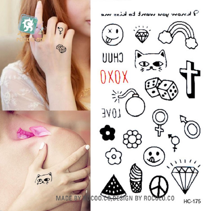 2016 Hot Sale Top Fashion Cute Little Fresh Tattoo Stickers Hc1175 Waterproof Elements