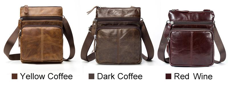 WESTAL Messenger Bag Men's Shoulder Genuine Leather bags Flap Small male man Crossbody bags for men natural Leather bag M701 3