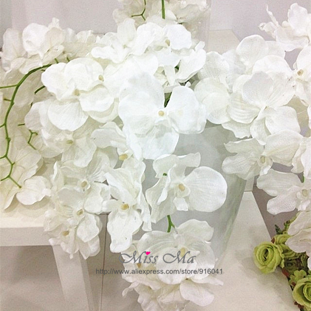Wholesale 100pcs phalaenopsis orchid free shipping silk flower wholesale 100pcs phalaenopsis orchid free shipping silk flower orchid artificial flower wedding flower floral hotel event party in artificial dried mightylinksfo