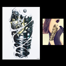 Hot 1pc 3D Tattoo Machine Gear Robot Arm Leg Decal Waterproof Tattoo HB088 Sexy Women Men Body Art Temporary Tattoo Sticker