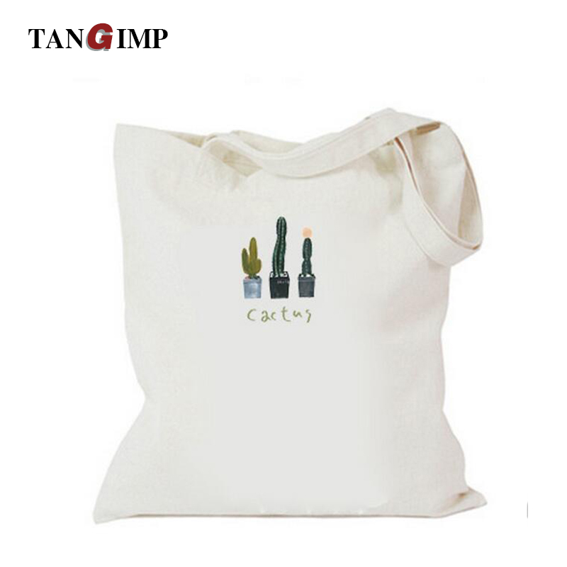 TANGIMP Cactus Bag Handbags Women Canvas Shoulder Bags Eco Fashion Shopping Beach Zipper Bags for Teenagers Girls Ladies Totes aosbos fashion portable insulated canvas lunch bag thermal food picnic lunch bags for women kids men cooler lunch box bag tote