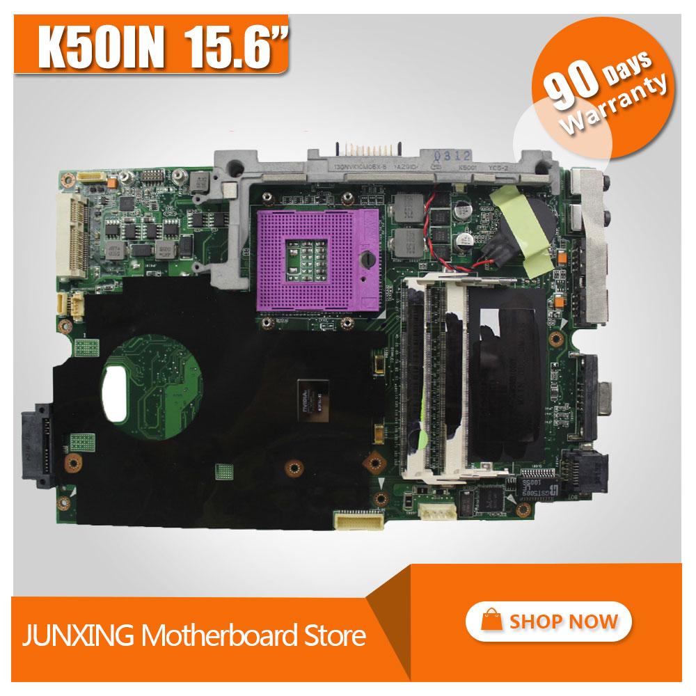 Original K50i K50IN Laptop Motherboard For Asus Fullly Tested 45 Days Warranty 100 Tested