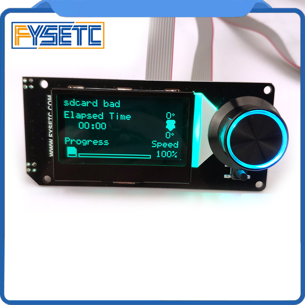 Image 5 - Type B mini 12864 Display MINI12864 V2.1 LCD Screen RGB backlight White Support Marlin DIY With SD Card For SKR 3D Printer Parts3D Printer Parts & Accessories   -