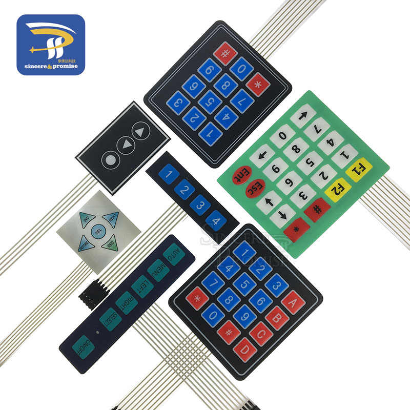 3 4 5 12 16 20 key 4*4 membrane switch keypad 1x4 1x6 3x4