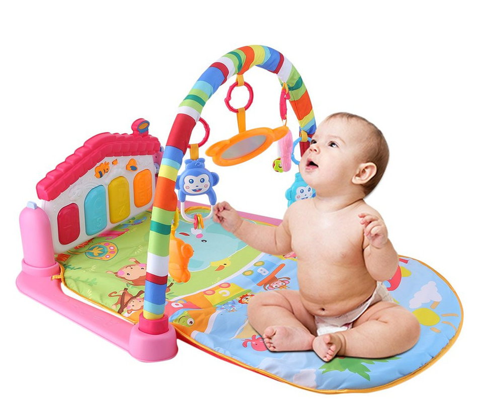 Bébé jouer tapis développer ramper RC lumière musique tapis avec clavier infantile Fitness tapis éducatif Rack magique tapis bébé jouet