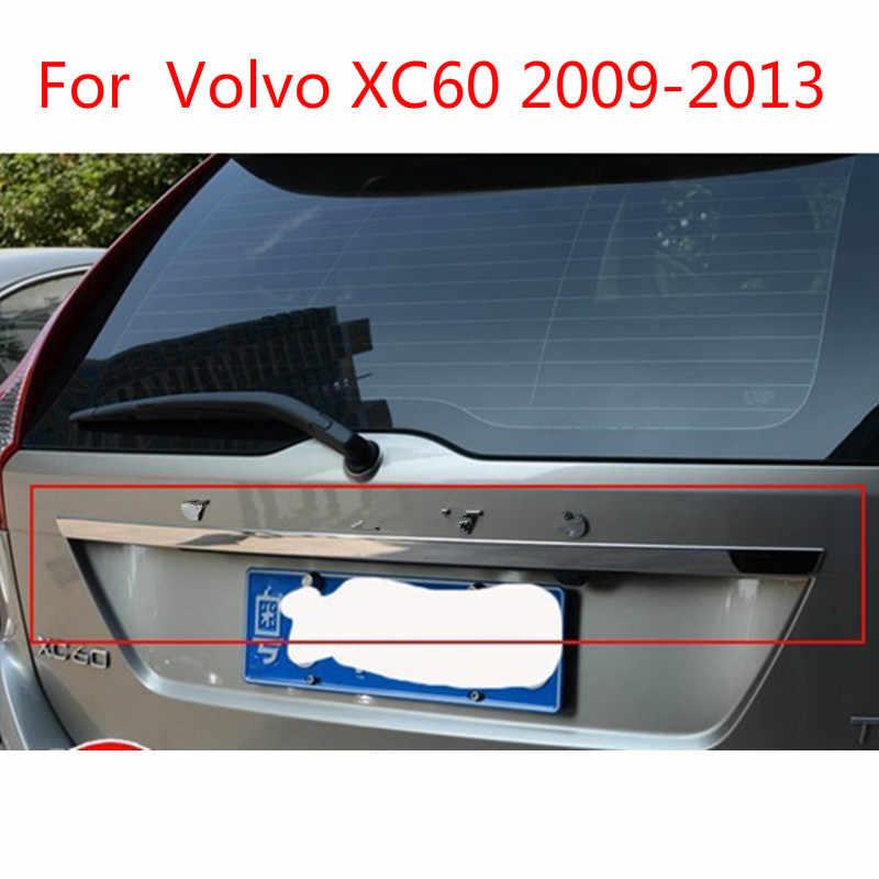 Hayon haute qualité en acier inoxydable couvercle de coffre arrière couvercle garniture pour Volvo XC60 5dr 2009 2010 2011 2012 2013 voiture-style