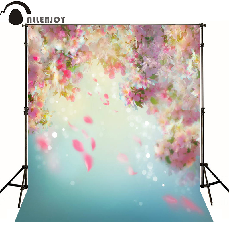 Allenjoy photography backdrops bokeh pink flowers blur photo background newborn baby photocall lovely photo studio