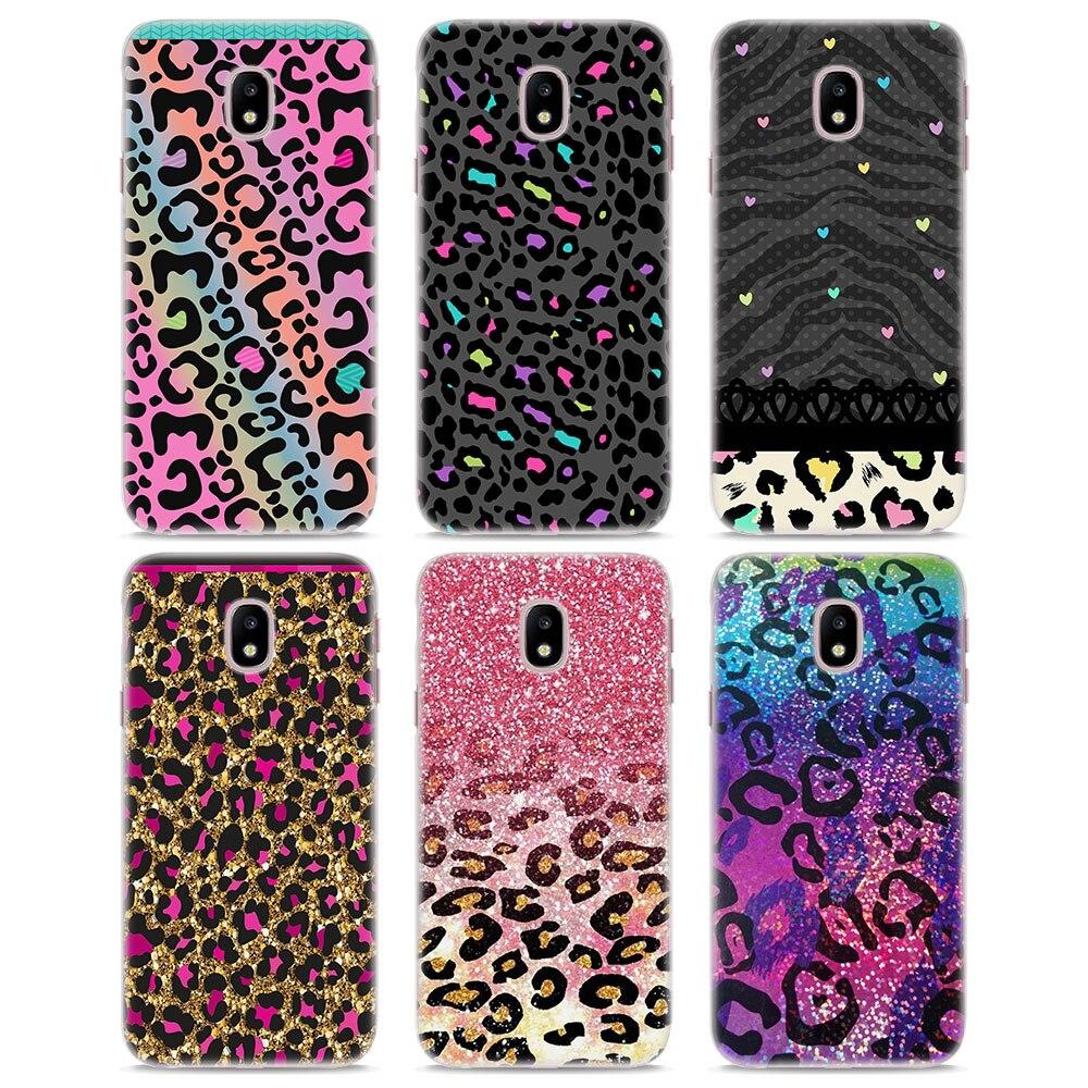 MOUGOL блеск leopard бесшовные кожи жесткий прозрачный чехол для телефона для samsung J710 J7 J5 2017 J510 J2 премьер J3 J1 2016