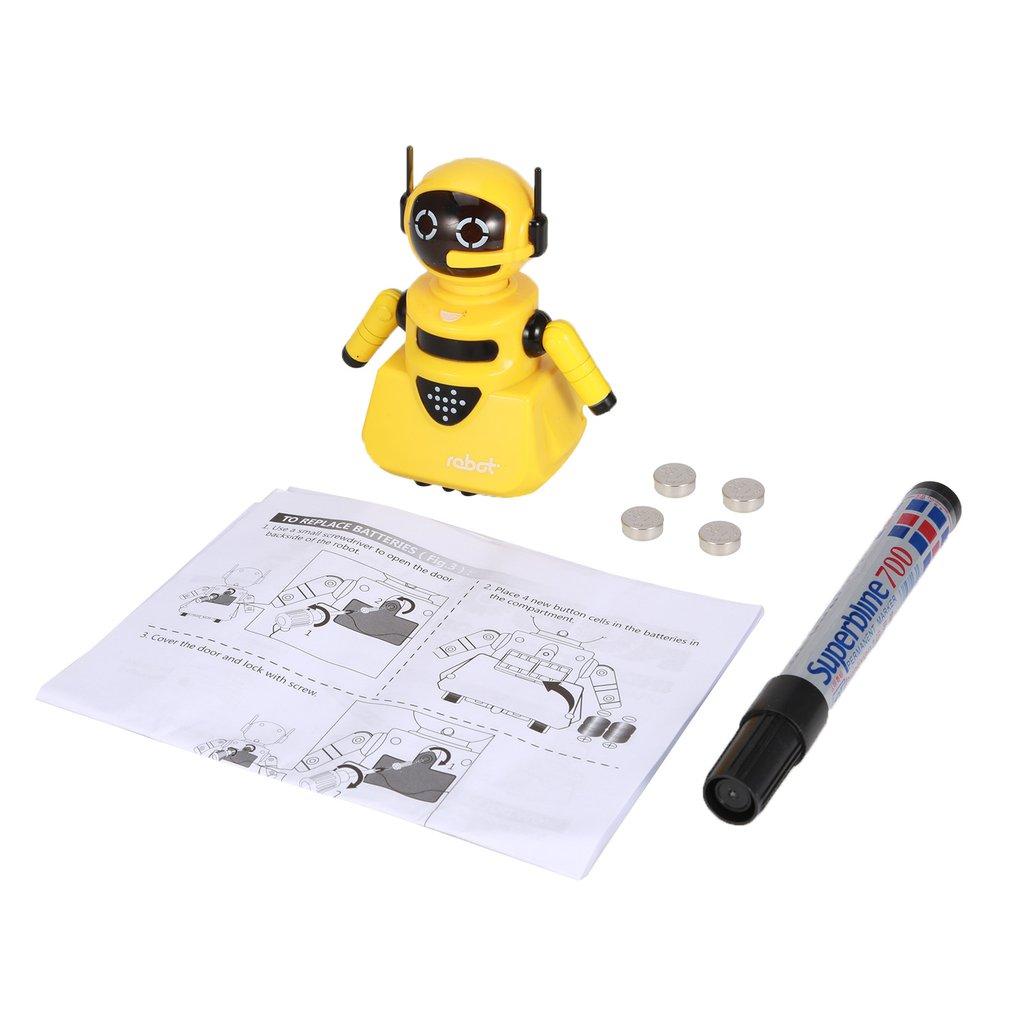 Modelo De Robot Inductivo De La Pista Mágica De La Inteligencia Que Sigue Por Línea Dibuja Los Juguetes De Los Niños Del Desarrollo De La Inteligencia Del Mini Vehículo úLtimo Estilo